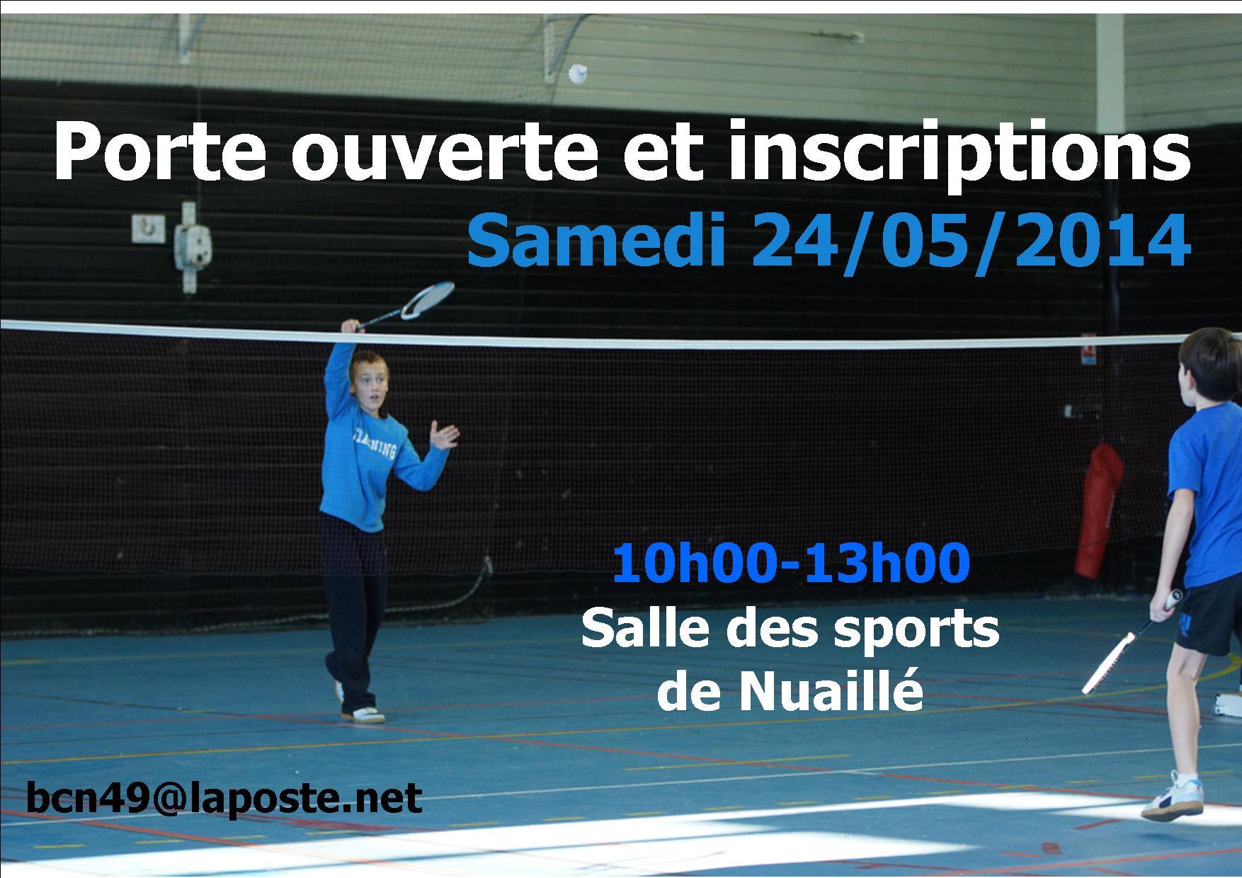 porte-ouverte Nuaillé Cholet badminton